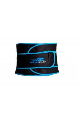 Пояс для похудения PowerPlay 4303 Чорно-Синій