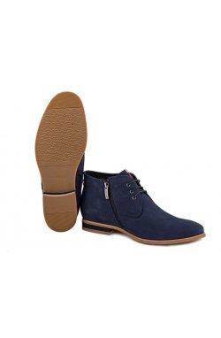 Ботинки мужские. Цвет синий.