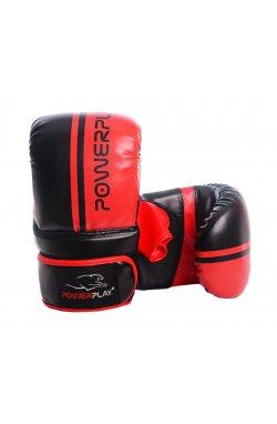 Снарядні рукавички PowerPlay 3025 Чорно-Червоні