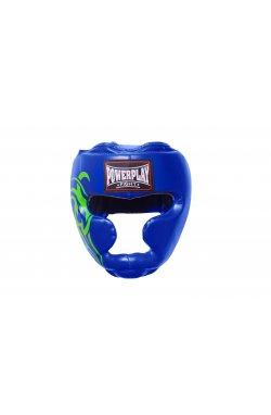Боксерський шолом тренировочный PowerPlay 3043 Синій
