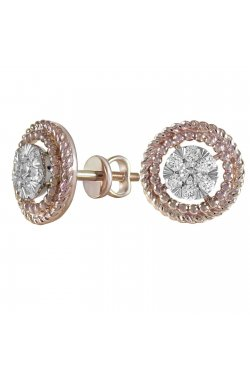 Серьги из красного золота с бриллиантами (1683621)