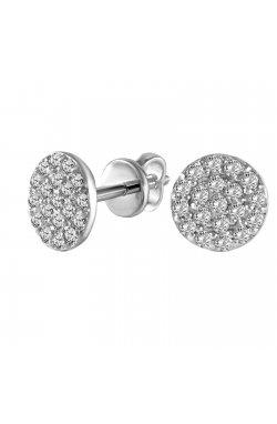 Серьги из белого золота с бриллиантами (1683622)