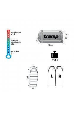 Спальный мешок Tramp Mersey оранж/серый R