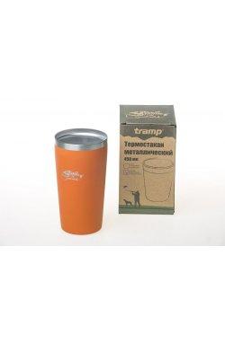 Термостакан металлический Tramp (450мл) оранжевый TRC-102