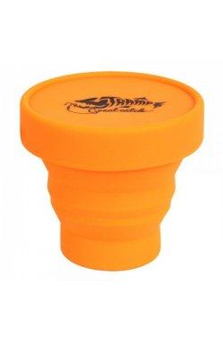 Стакан складной силиконовый с крышкой Tramp 180ml orange
