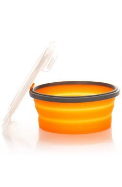Контейнер складной с крышкой-защелкой Tramp (550ml) orange