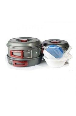 Набор посуды из анодированого алюминия Tramp TRC-024