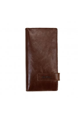 Клатч кошелек из кожи коричневый Issa Hara