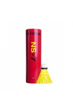 Воланы пластиковые для бадминтона FZ Forza NS-7 Yellow (1/2 Doz.), 6 шт. Fast