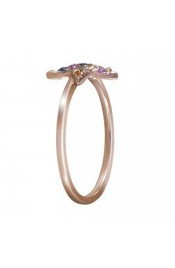 Кольцо из красного золота с сапфирами