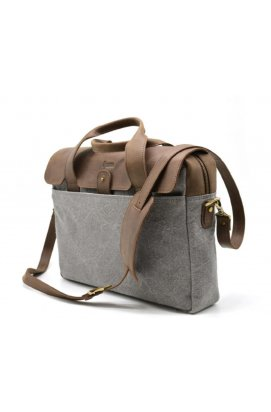 Повседневная сумка в комбинации кожи и ткани RC-1812-4lx от TARWA