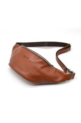 Стильная сумка на пояс бренда TARWA GB-3036-4lx в рыжевато-коричневом цвете