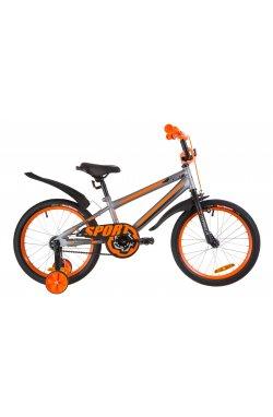 """Велосипед 18"""" Formula SPORT 2019 (серо-черный с оранжевым (м))"""