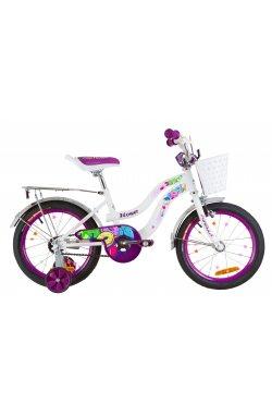 """Велосипед 16"""" Formula FLOWER 2019 (бело-фиолетовый)"""