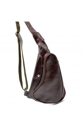 Трендовый рюкзак из натуральной кожи на одно плечо GX-3026-4lx бренд TARWA