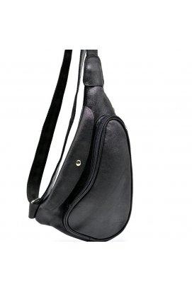 Практичный рюкзак на одно плечо из телячьей кожи GA-3026-3md бренд Tarwa Black –