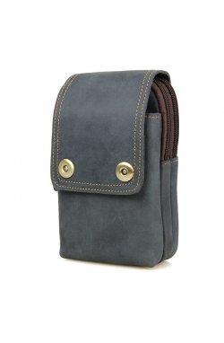 Кожаная сумка (чехол) на пояс из матовой телячьей кожи 5003K