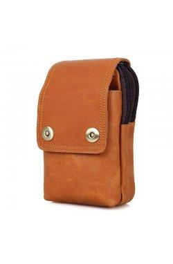 Кожаная сумка (чехол) на пояс из матовой телячьей кожи 5003B