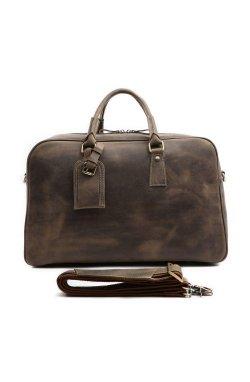 Кожаная дорожная сумка, английский стиль, матовая 7156R
