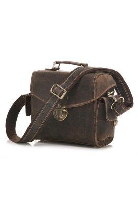 Кожаная сумка для камеры фотоаппарата коричневая Bexhill bx3516