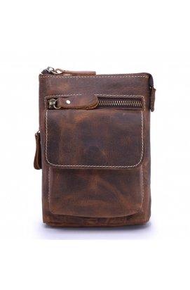 Кожаная мужская сумка через плечо или на пояс Bexhill bx001