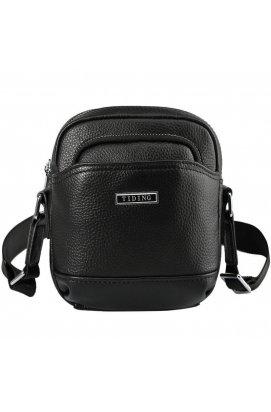 Маленькая мужская сумка 2356LH Tiding из натуральной кожи Черный