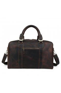 Дорожная сумка из натуральной кожи tid1024R бренда Tiding