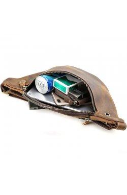 Сумка на пояс из лошадиной кожи tid3021 фирмы Tiding