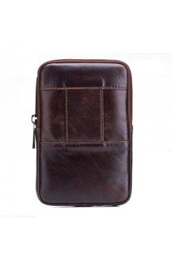 Мужская сумка-чехол на пояс Bull из натуральной кожи YB10