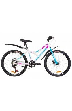 """Велосипед 24"""" Discovery FLINT DD 2019 (бело-голубой с розовым)"""