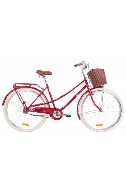 "Велосипед 28"" Dorozhnik COMFORT FEMALE 2019 (рубиновый)"