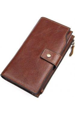 Кошелек мужской Vintage 14372 Коричневый, Коричневый