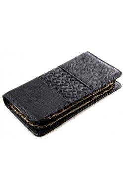 Мужской клатч Vintage 14396 кожаный Черный, Черный