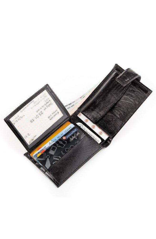 Кожаное портмоне CANPELLINI 17030 Черное, Черный