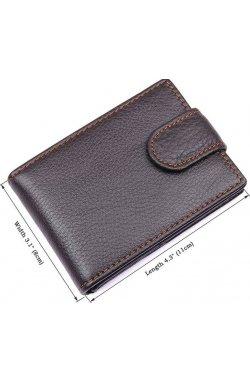 Кредитница мужская Vintage 14510 кожаная Коричневая, Коричневый