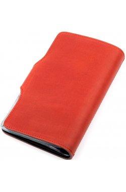 Визитница большая Shvigel 13907 кожаная Красная, Красный