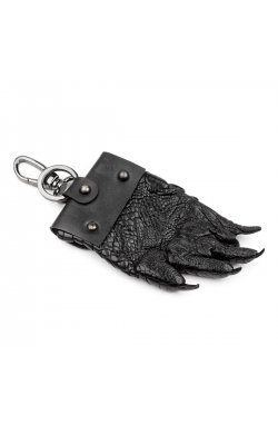 Брелок CROCODILE LEATHER 18228 из натуральной кожи крокодила Черный, Черный