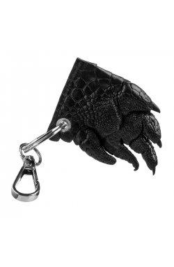 Брелок CROCODILE LEATHER 18241 из натуральной кожи крокодила Черный, Черный