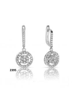 Серьги из белого золота с бриллиантами (1685826)