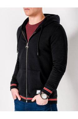 Толстовка мужская на молнии912 - черный