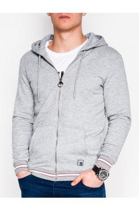 Толстовка мужская на молнии912 - Серый