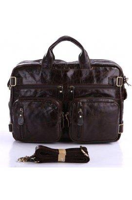 Мужская кожаная сумка-трансформер 5в1 John McDee 7026C-1