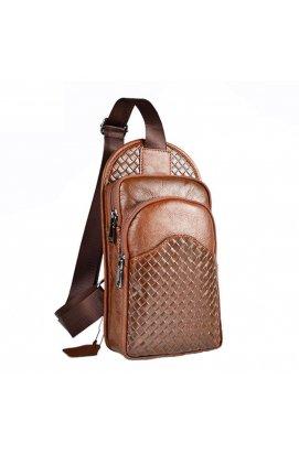 Одношлеечный кожаный рюкзак Bull T1355