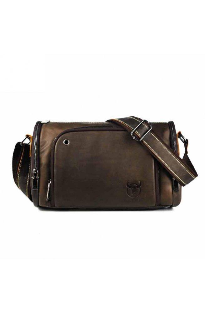 Кожаная сумка бочонок среднего размера BULL T1350