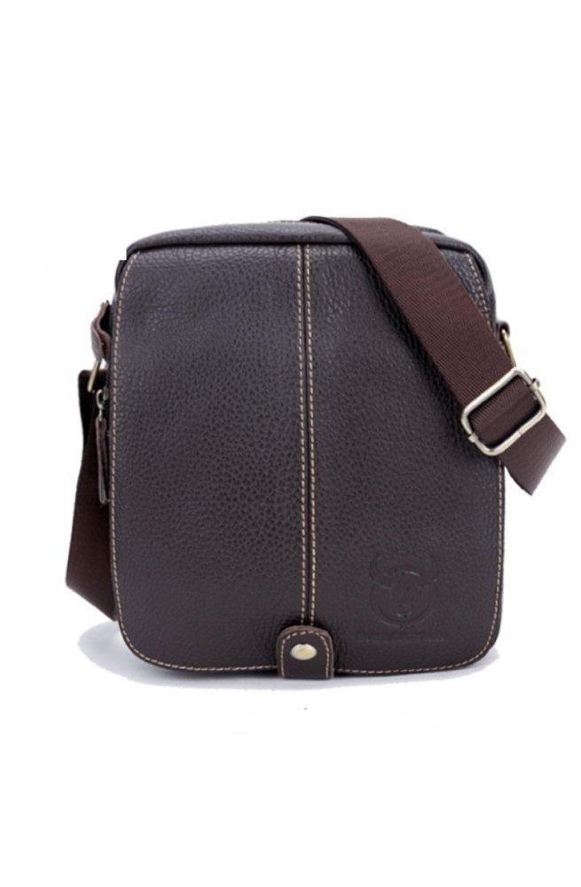 Маленькая сумка Bull T1336 из натуральной кожи через плечо