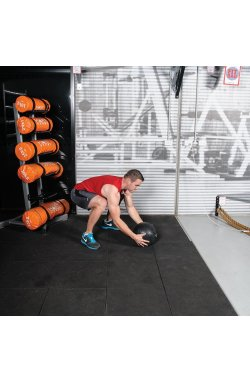 Медбол (медицинский мяч) для кроссфита SportVida Medicine Ball 5 кг SV-HK0059 Black