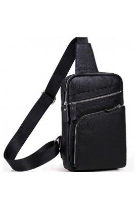 Мессенджер Tiding Bag A25-6896A - Натуральная кожа, чёрный