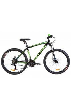"Велосипед 26"" Optimabikes MOTION DD 2019 (черно-салатно-синий)"