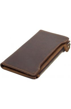 Кошелек Vintage 14596 кожаный Коричневый, Коричневый
