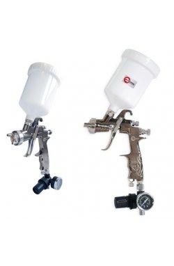 LVLP PROF краскораспылитель 1,3 мм, с редуктором, пласт. в/бачок 600 мл., 2 атм IN